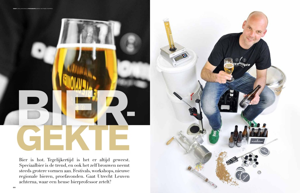 Artikel over De Bierpionier in LEVEN Magazine